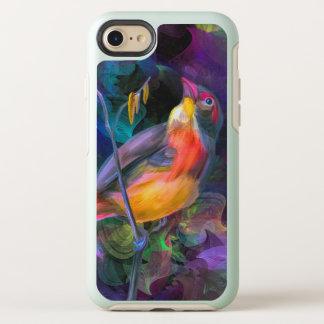 Bunter Vogel. Sitzen auf einem Baumast OtterBox Symmetry iPhone 8/7 Hülle