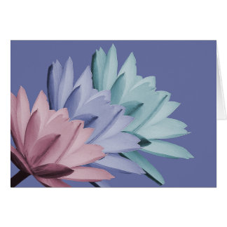 Bunter Wasser-Lilien-Blumen-FotoChic mit Blumen Karte
