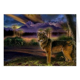 Bunter Wolf im Wald Karte