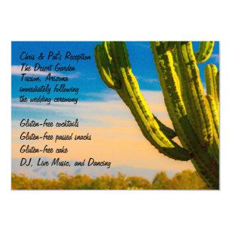 Bunter Wüsten-Kaktus-Menü-Empfang 12,7 X 17,8 Cm Einladungskarte