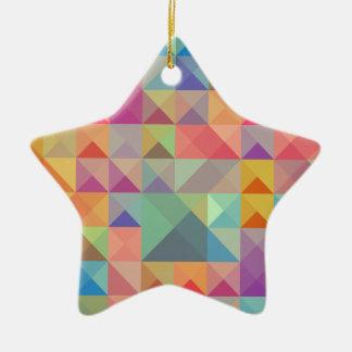 Buntes #4 keramik Stern-Ornament