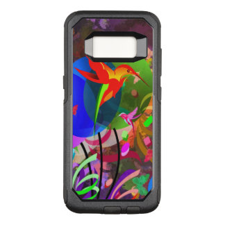 Buntes abstraktes der Kolibris und der OtterBox Commuter Samsung Galaxy S8 Hülle
