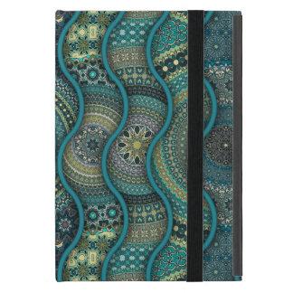 Buntes abstraktes ethnisches Blumenmandalamuster Hülle Fürs iPad Mini