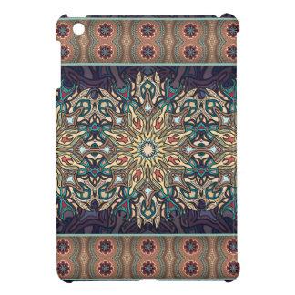 Buntes abstraktes ethnisches Blumenmandalamuster iPad Mini Hülle