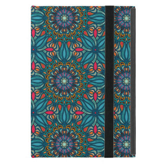 Buntes abstraktes ethnisches Blumenmandalamuster iPad Mini Hüllen