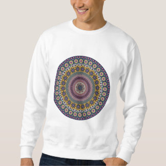 Buntes abstraktes ethnisches Blumenmandalamuster Sweatshirt