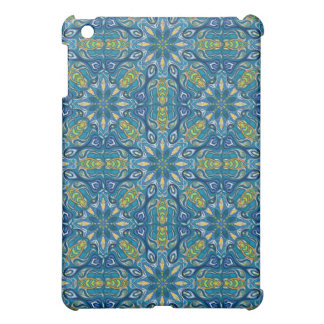 Buntes abstraktes ethnisches Blumenmandalamusterde iPad Mini Hülle