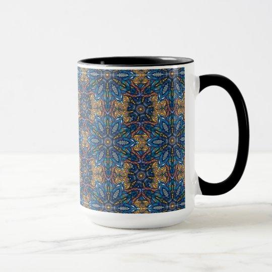 Buntes abstraktes ethnisches Blumenmandalamusterde Tasse