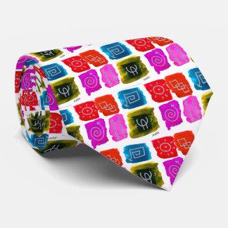 Buntes abstraktes künstlerisches krawatte