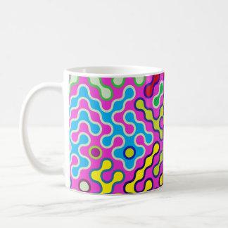 Buntes abstraktes psychedelisches Pop-Kunst-Muster Kaffeetasse