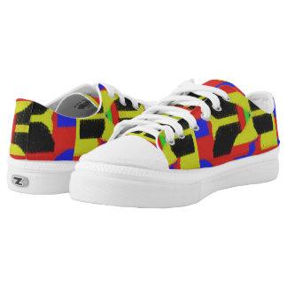Buntes abstraktes trendy Muster Niedrig-geschnittene Sneaker
