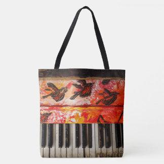 Buntes altes Klavier Tasche