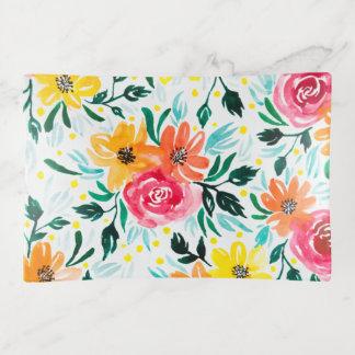 Buntes Aquarell-Blumenillustrations-Muster Dekoschale