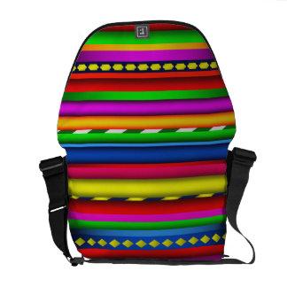 Buntes aztekisches Mayaanden-Mehrfarbenmuster Kurier Taschen