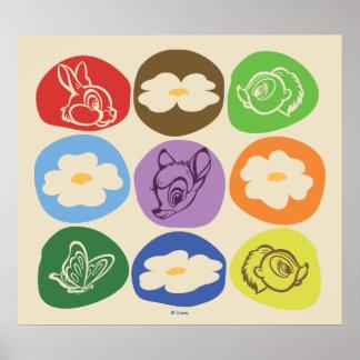 Buntes Bambi, Blume u. Klopfer Poster