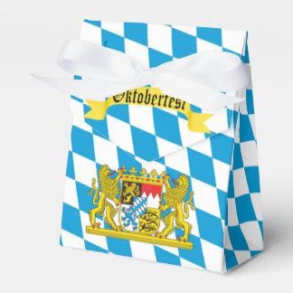 Buntes bayerisches Flagge Oktoberfest Party Geschenkschachtel