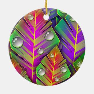 Buntes Blätter Keramik Ornament
