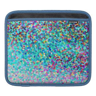 Buntes blaues mehrfarbiges abstraktes Kunst-Muster Sleeves Für iPads