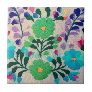Buntes Blumen-Muster Keramikfliese