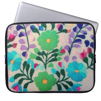 Buntes Blumen-Muster Laptopschutzhülle