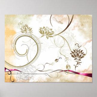 buntes Blumenplakat Poster