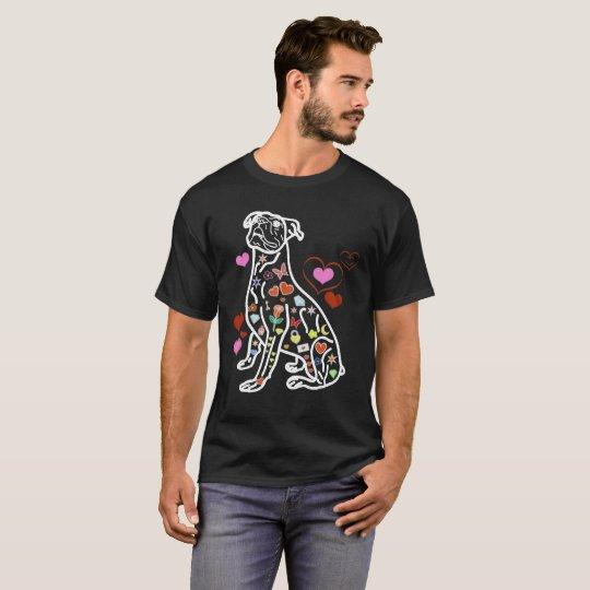 Buntes Boxer-Shirt T-Shirt