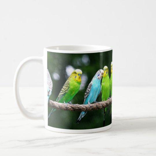 Buntes Budgies Kaffeetasse
