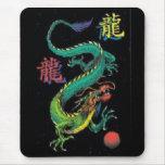 Buntes chinesisches Drache-Kanji Mousepad