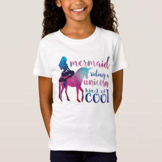 Buntes cooles Zitat des Meerjungfrau-ReitUnicorn T-Shirt