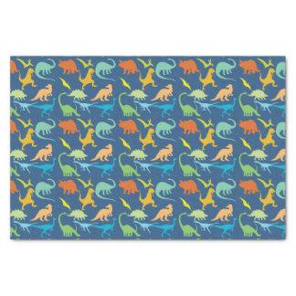 Buntes Dinosaurier-Muster Seidenpapier