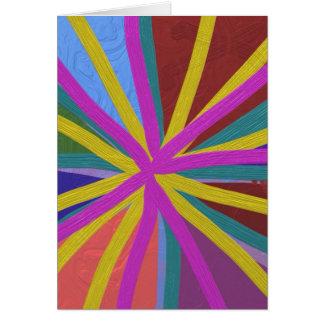Buntes Farben-Gekritzel zeichnet konvergierendes Karte