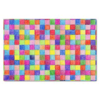 Buntes farbiges Zeichenpapier mit Maßeinteilung Seidenpapier