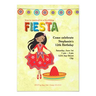 Buntes Fiesta-Kindergeburtstag-Party 12,7 X 17,8 Cm Einladungskarte