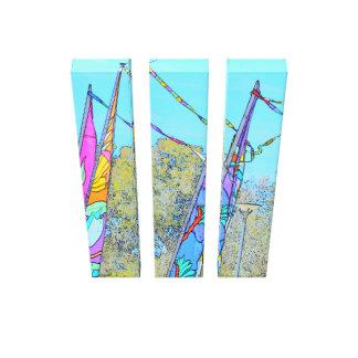 Buntes Flaggen-Bild Leinwanddruck