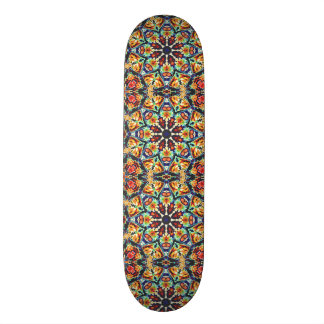 Buntes geometrisches abstraktes 18,1 cm old school skateboard deck