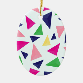 Buntes geometrisches Muster II Keramik Ornament