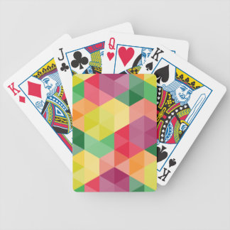 Buntes geometrisches Muster Pokerkarten