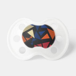 Buntes geometrisches Muster Schnuller