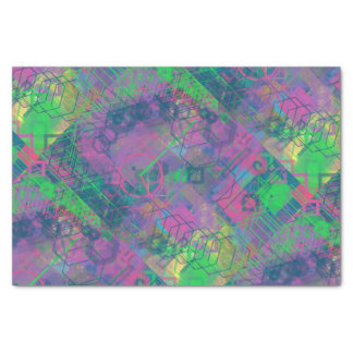 Buntes geometrisches Party-Seidenpapier Seidenpapier
