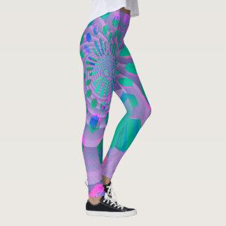 Buntes geometrisches Pastellabstraktes Leggings