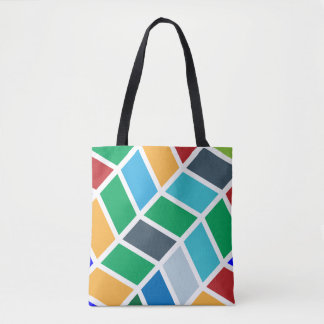 Buntes geometrisches Schritt-Muster Tasche