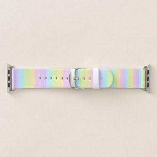 Buntes gestreiftes Apple-Pastelluhrenarmband Apple Watch Armband