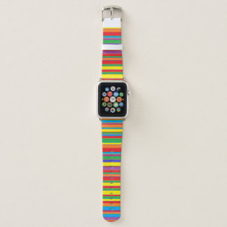 Buntes gestreiftes Apple-Uhrenarmband Apple Watch Armband