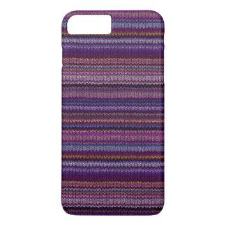 Buntes gestricktes Muster iPhone 7 Plus Hülle