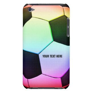 Buntes girly Geschenk des Fußballs des Fußball-| Barely There iPod Hülle