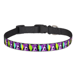 Buntes Gruben-Stier-Grafik-Hundehalsband Haustierhalsband