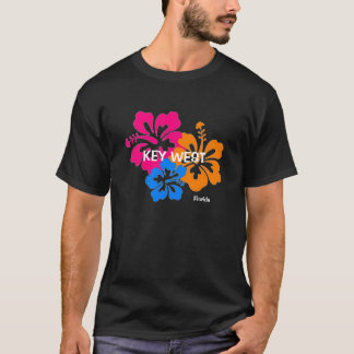 Buntes Hibiskus-T-Shirt Key West Florida T-Shirt