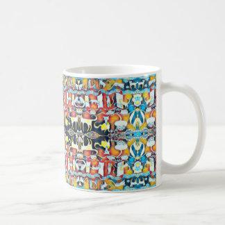 Buntes Katzen-Kaleidoskop Kaffeetasse