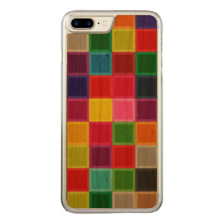 Buntes Kirschholz schnitzte iPhone 7 Plusfall Carved iPhone 7 Plus Hülle