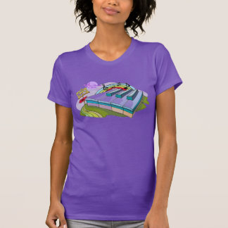 Buntes Klavier befestigt lila feinen Jersey-T - T-Shirt